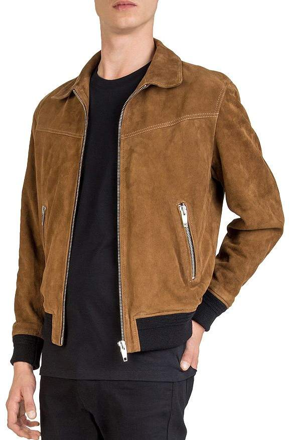 7807ef3b380 Kooples Suede Jacket Men - ShopStyle