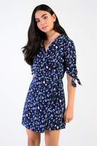 Glamorous Petites **Ditsy Floral Print Wrap Front Dress by Glamorous Petite