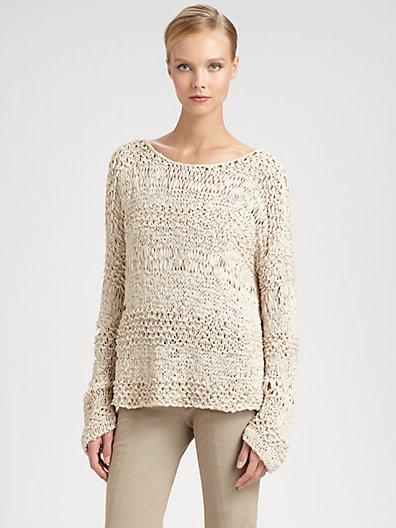 Donna Karan Wide-Neck Sweater