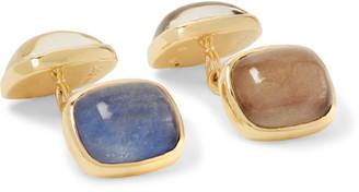 Trianon Gold Sapphire Cufflinks
