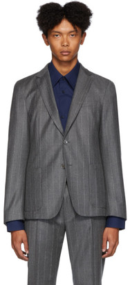 HUGO BOSS Grey Pinstripe Nold Blazer