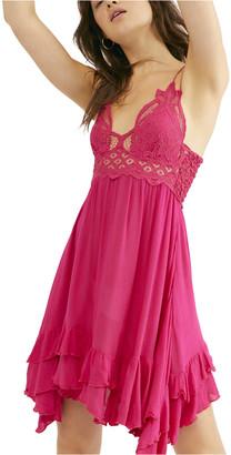 Free People Fuchsia Adella Slip Dress Pink XS
