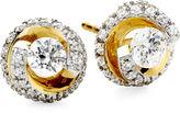 JCPenney FINE JEWELRY 1 CT. T.W. Diamond Spiral 10K Yellow Gold Stud Earrings