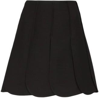 Valentino Petal Pleated Mini-Skirt