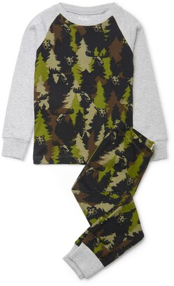Hatley Kids' Forest Camo Organic Cotton Fitted Two-Piece Pajamas