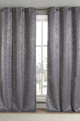 "Duck River Textile Maddie Blackout Grommet Curtains 84"" - Set of 2 - Grey"