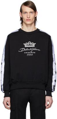 Dolce & Gabbana Black Millennials Star Sweatshirt