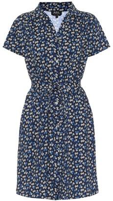 A.P.C. Floral cotton minidress