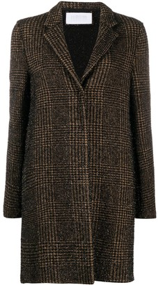 Harris Wharf London Plaid Pattern Coat