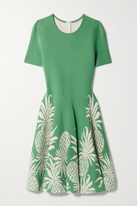 Oscar de la Renta - Jacquard-knit Mini Dress - Green