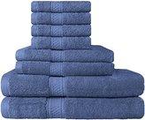 8 Piece Towel Set (Blue); 2 Bath Towels, 2 Hand Towels & 4 Washcloths - Cotton By Utopia Towels