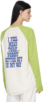 Marc Jacobs Green Peanuts Edition 'I Feel Mean' Long Sleeve T-Shirt