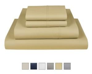 "Fisher West New York The Village 500 Thread Count Cotton Twin Sheet 3-Piece Set, Fits Mattress Upto 17"" Bedding"
