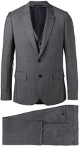 Paul Smith three-piece suit - men - Viscose/Wool - 56