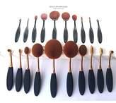 Dream TDream New 10Pcs Soft Elite Oval Toothbrush Makeup Brush Set Foundation Brushes Cream Contour Powder Blush Concealer Brush Makeup Cosmetics Tool Set(Goldrose)