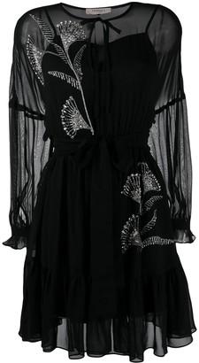 Twin-Set beaded details dress