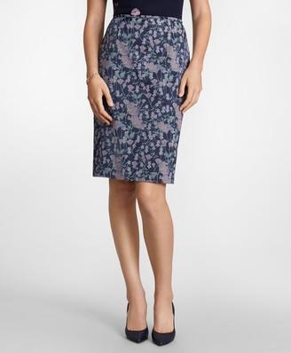 Brooks Brothers Floral Jacquard Pencil Skirt