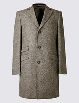 Marks and Spencer Pure Wool Single Breasted Overcoat