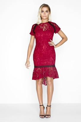 Paper Dolls Wine Lace Dress