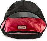 Gucci patent brim cap - women - Silk/Polyester/Spandex/Elastane/Viscose - L