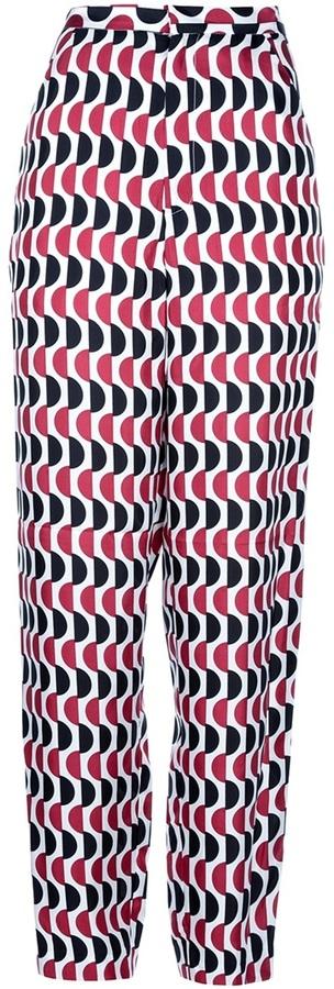 Marni printed wide leg trouser