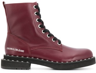 Calvin Klein Jeans Studded Ankle Boots
