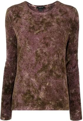 Avant Toi Washed-Dye Silk Knit Top