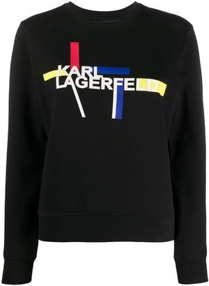 Karl Lagerfeld Paris Printed Logo Sweatshirt