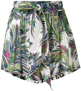 Etro paisley tie-waist shorts