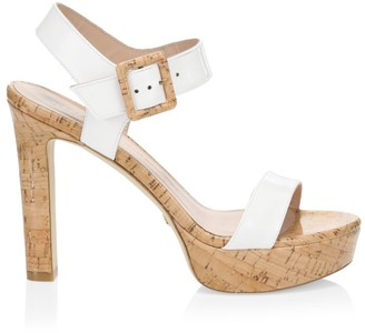 Stuart Weitzman Alesha Leather Platform Sandals