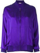 P.A.R.O.S.H. plain bomber jacket - women - Silk/Spandex/Elastane - S