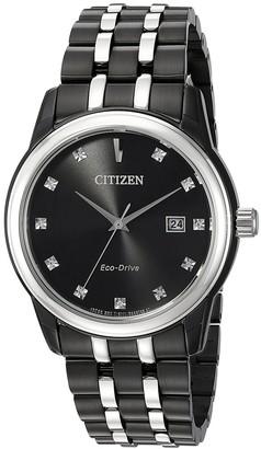 Citizen Men's Corso Eco-Drive Black Diamond Dial Watch, 39mm