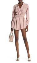 One One Six Ruched Woven Romper