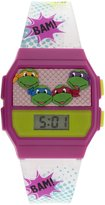 Nickelodeon Girl's Quartz Rubber and Plastic Casual Watch, Color:White (Model: TURKD149)