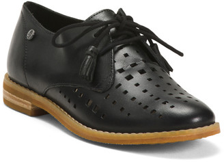 Comfort Perforated Leather Oxfords