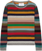 Allude Striped Cashmere Sweater - Red