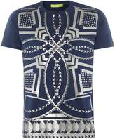 Versace Jeans All Over Geo Print Crew Neck T-shirt