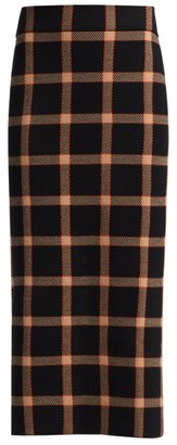 Akris Punto Check Wool Pencil Skirt