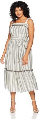 Maggy London Women's Plus Size Novelty Maxi Dress pom Trim