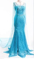 Eyekepper Cosplay Disney Animation Princess Elsa Dress Costume