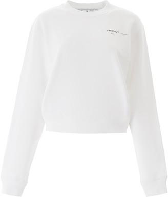 Off-White Logo Print Cropped Sweatshirt
