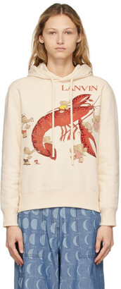 Lanvin Beige Babar Edition 'Book Of Colors' Lobster Hoodie