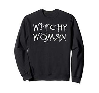 Witchy Woman Witch Halloween Horror Night Costume Office Tee Sweatshirt