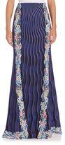 Mary Katrantzou High-Waist Mixed-Print Maxi Skirt