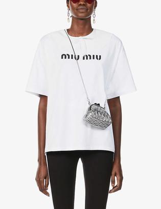 Miu Miu Logo-print cotton-jersey T-shirt