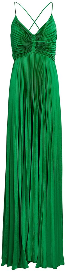 A.L.C. Aries Pleated Cut-Out Gown