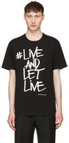 Neil Barrett Black 'Live and Let Live' Graffiti T-Shirt