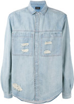 Stampd ripped denim shirt - men - Cotton - S