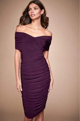 Lipsy Slinky Bardot Dress - 10 - Purple