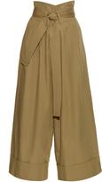 ADAM by Adam Lippes Wide-leg cotton-poplin cropped trousers